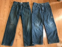 FREE..Boy's jeans, size 7 & 7X, both jeans are in good condition except for holes on knees, can be worn as is or fixed by a handy person or cut out as shorts Manassas, 20112