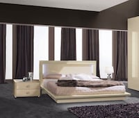 La Star Ivory CALIFORNIA KING Bed and 2 Night Stand!!! BRAND NEW !     Clifton, 07013