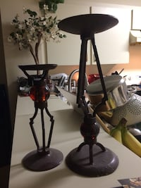 two black metal candle holders New Port Richey, 34653