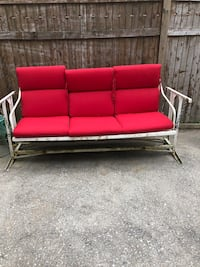 red and black 3-seat couch Long Beach, 11561