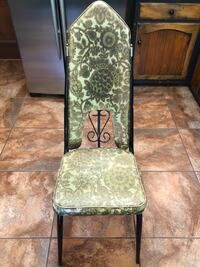 Vintage Imperial Dinette Chair vinyl & metal-no splits in vinyl-seat is faded/some scrapes on metal Brentwood, 37027