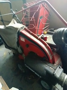 red and black Troy-Bilt industrial equipment