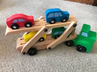 Melissa and Doug wooden truck and trailer set Wilmington, 19805