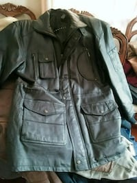 Context Mens Leather Jacket. Has hood Springfield