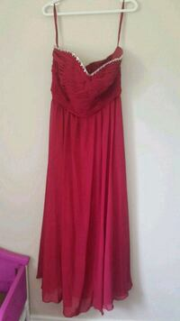 Size 12-14 cranberry fall dress  Halton Hills, L0P