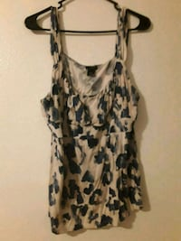 white and black floral spaghetti strap dress Colorado Springs, 80910