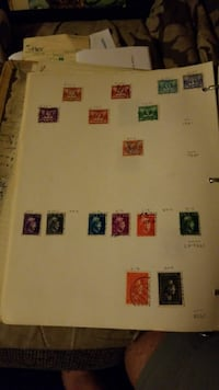 several postage stamps