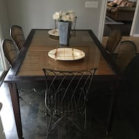 Pier One Kitchen Table and 6 Chairs Dark Wood  Ocean