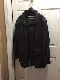 black leather zip-up jacket Moosic, 18507