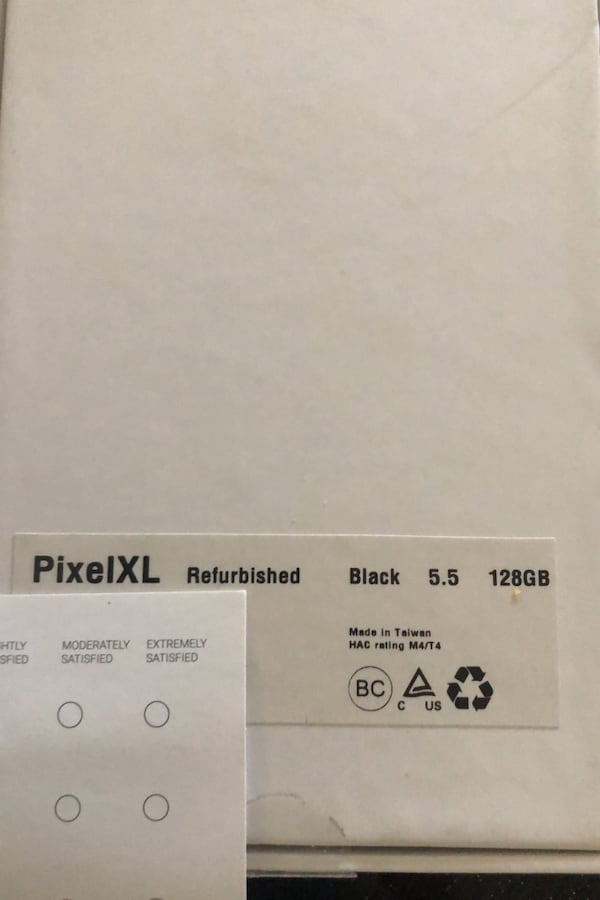 Google pixel xl - replacement from google 128gb 91aacebd-8e88-4bed-80e1-7fcc073c96a6