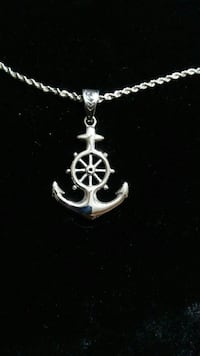 Stainless Steel men's anchor necklace