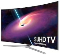 """Samsung 65"""" Curved 3D SUHD 4K Television Sound bar w/Wireless Subwoofer, 4K 3D Blu-ray player included, Comes with wall mount for curved television White Plains"""