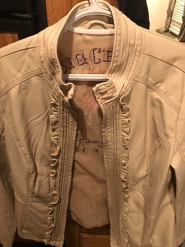 brown full zipped jacket