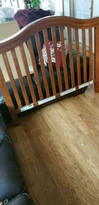 brown wooden. baby crib Des Moines, 50320