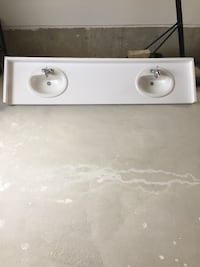 "Bathroom counter with double Sink approximately  23"" x 94 1/2"" Newmarket, L3Y"