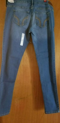 blue denim straight-cut jeans 1073 mi