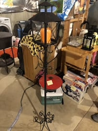 black and red floor lamp BOWIE