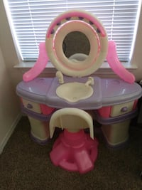 toddler's pink and purple plastic vanity table Plano, 75074