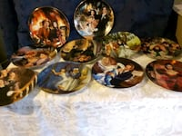 EUC GONE WITH THE WIND COLLECTORS PLATES