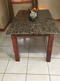 rectangular brown marble top table Sterling Heights, 48310