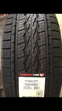 One new 275/55r20 General Grabber Tire Liberty, 29657