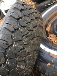 I have two rings and snow tires for chevy 215/75/15 like new 312 mi