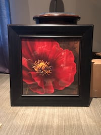 Large red flower framed picture San Angelo, 76901