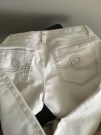white and gray denim bottoms Edmonton