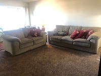 2 couches with cushions, lamp, nightstand, and rug Long Beach, 90815