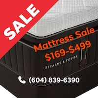 NEW LUXURY MATTRESS CLOSE OUT SALE - $169-$499 Simmons, Sealy, Serta, & more Delta, V3M 6M5