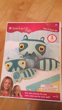 Brand new arts and crafts. American girl crafts! See a raccoon for you and a mini one for your doll! Laval, H7Y 2C1