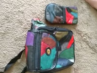 Patchwork leather matching fanny pack and wallet Edmonton, T6C 3C3