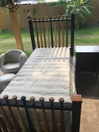 All wood baseball twin bed comes with mattress set , nightstand, chair and ottoman  Houston, 77093