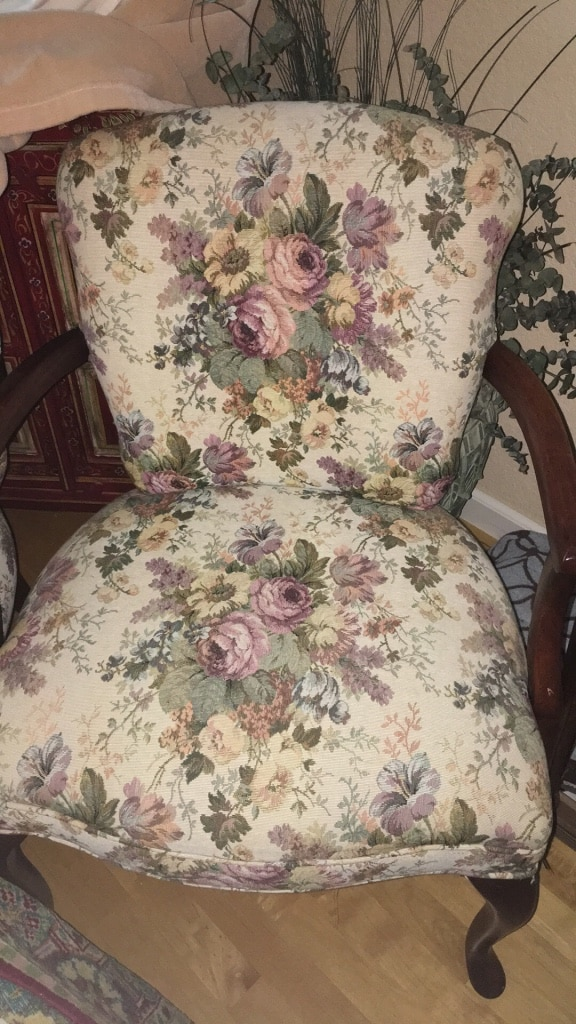2 Matching Tapestry Chairs