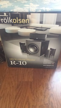 black and gray home theater system Scarborough