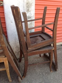 Brown wooden  chair frame Oklahoma City, 73170