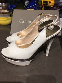 Peep toe sling back high heel shoes Markham, L3P