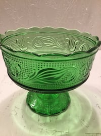 Vintage E.O.Brody green footed pedestal compote candy dish Albuquerque, 87120