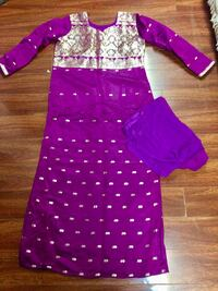 Purple colour party wear gawn with shawl and bottom ,like new condition  Toronto, M8V 2V1