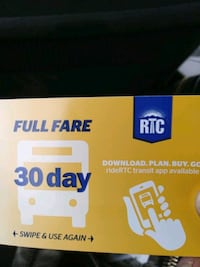 Monthly bus pass never been used