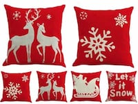 three red-and-white throw pillows Bothell, 98011