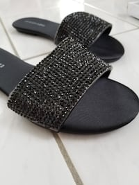 Fashion Nova Bejeweled Slides Vaughan
