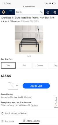Two twin bed frames!!!! Maple Shade, 08052