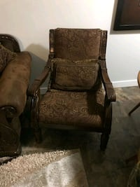 brown and black floral armchair Calgary, T2A 3W4