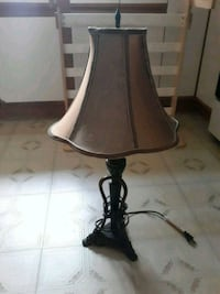 black metal base with brown lampshade table lamp New Bedford, 02746