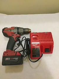 red and black Milwaukee cordless hand drill Renton