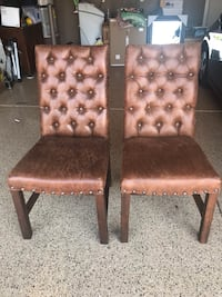 Beautiful brown side chairs with brass nail heads  North Las Vegas, 89081