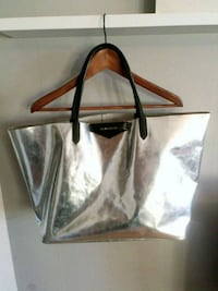 black and brown leather tote bag Poplar, E14