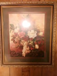white and pink petaled flower painting Creedmoor, 27522