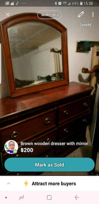 brown wooden dresser with mirror screenshot 723 km